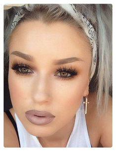 Recreate this look using the following Younique makeup. Splurge Cream Shadows: Prime entire lid, on lid use Dainty, in crease use Extravagent, line lower lash line with extravagent, line upper lash line with Perfect eye pencil, line water line with Perfect, finish eyes with D Mascara, Use Seductive Blush, line lips and fill in using Pouty lip liner and top with Well To Do lipstick.