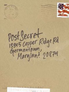 """POST SECRET began as an ingenious community art project.  Frank Warren began handing out POSTCARDS to strangers and leaving them in public places, inviting them to anonymously contribute a secret to a group art project. """"It can be a regret, fear, betrayal, desire, confession, or childhood humiliation...anything - as long as it's true and never shared before. This book is full of profound brevity and depth.  It  will leave you feeling uneasy - yet more connected to humanity for having read…"""