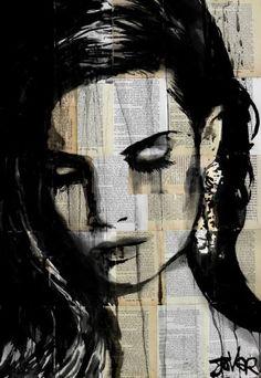 "Saatchi Art Artist Loui Jover; Drawing, ""west coast.... ((SOLD))"" #art"