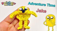 Tutorial Jacke Adventure Time con Elastici Rainbow Loom /Jake de Hora de...