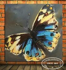 OP971 Modern Abstract Oil Painting on canvas wall decor Butterfly (NO Frame)