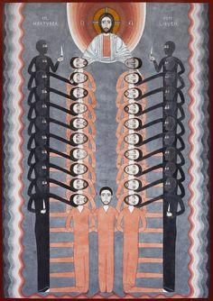 A New Image of the Coptic Martyrs of Libya, by Nikola Sarić http://www.newliturgicalmovement.org/2015/10/a-new-image-of-coptic-martyrs-of-libya.html