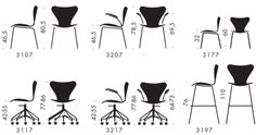 The Series 7 chair was designed by Arne Jacobsen