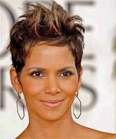 Top 100 Hairstyles for 2014 for Black Women. Best celebrity hairstyles with braids, straight, natural, curly, and short hair. Short Sassy Hair, Short Hair Cuts, Short Hair Styles, Pixie Cuts, Short Pixie, Messy Pixie, Pixie Bob, Pixie Hairstyles, Celebrity Hairstyles