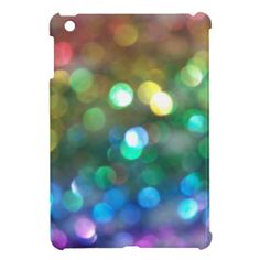 Rainbow Glitter Bokeh iPad Mini Case