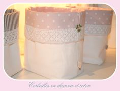 Corbeilles en tissu