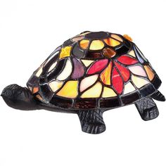 River of goods cordless battery operated stained glass 25 inch tiffany turtle accent lamp e3m4 dulles electric supply corp mozeypictures Gallery