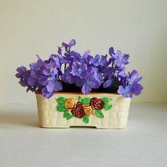 Vintage Planter Japanese Majolica Ceramic by CalloohCallay on Etsy