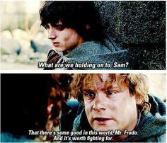 Frodo and Sam. The Lord of the Rings