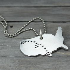 Hey, I found this really awesome Etsy listing at https://www.etsy.com/listing/157940101/state-to-state-necklace-long-distance