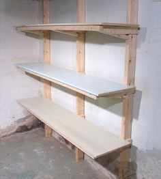 Proper Sturdy Straight And Visually Appealing Garage Shelves