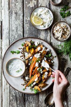 Roasted Beet & Carrot Lentil Salad with Feta, Yogurt & Dill The Bojon Gourmet. Roasted Beets, Roasted Vegetables, Veggies, Bojon Gourmet, Vegetarian Recipes, Healthy Recipes, Vegetarian Dish, Pescatarian Recipes, Lentil Recipes