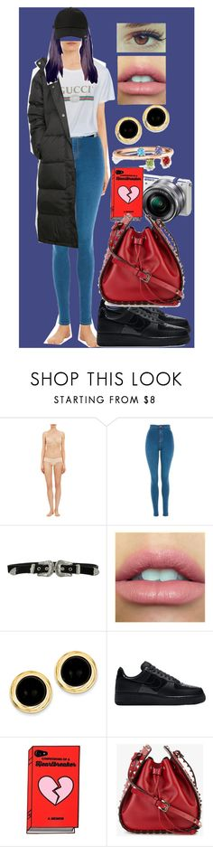 """""""Sin título #446"""" by coldprincess on Polyvore featuring moda, Cosabella, Topshop, B-Low the Belt, Kevin Jewelers, NIKE, Sony, Valentino y StyleNanda"""