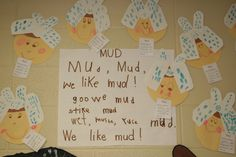 Mrs. Wishy Washy {great descriptive words in this mud poem}