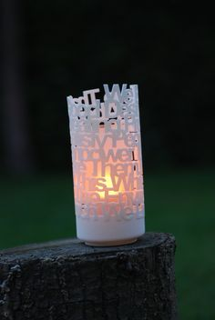 3D print custom votive candle holders