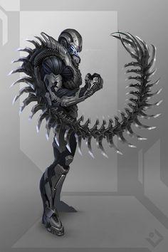 ArtStation - Scorpion Armor, Dmitry Lyapin