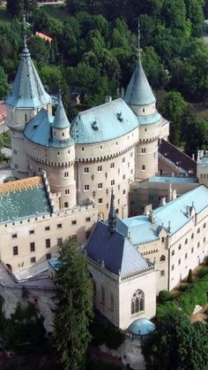 "Bojnice castle, Slovakia: pretty sure this is the one in the Princess Diaries that she looks at as shes in the plane coming into ""Genovia""."