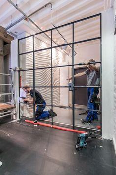 Window Design, Door Design, Steel Frame Doors, Steel Windows, Iron Furniture, Iron Doors, Steel Wall, Glass Door, Living Room Decor