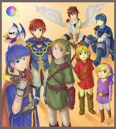 Swordsmen of Smash by DigitalYoshi.deviantart.com on @deviantART