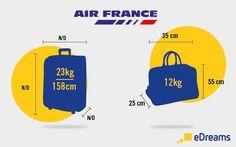 dimensions poids bagages air france et autres compagnies