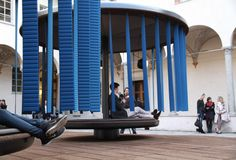 quiet motion lounge installation by ronan and erwan bouroullec for BMW i