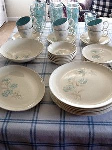 Vintage 1950s Taylor Smith Taylor TST Boutonniere Dishes and Glasses | eBay