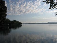 Sunrise on Chickamauga Lake, Chester Frost Park, Hixson, TN.  Sequoyah Nuclear Plant in the background.