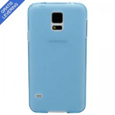 Lyseblåt Samsung Galaxy S5 Cover - Frosted Design