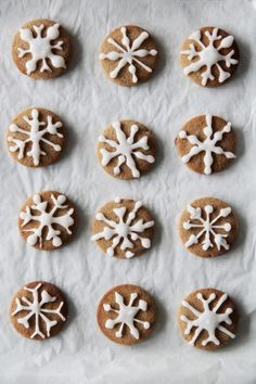 fork and flower: snowflake pepper cookies