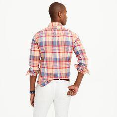 Slim Indian madras shirt in autumn leaf : madras shirts | J.Crew
