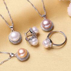 FENNEY pendente naturale della perla 100%, pendente naturale d argento  della collana della perla d acqua dolce di figura di goccia Trasporto libero 36d253f17cb