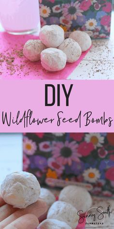 DIY Wildflower Seed Bombs If you are ready to add a spruce if gorgeous-ness (because that& totally a word) to your yard, these seed bombs. Easy Crafts To Make, Easy Diy, Diy Crafts, Rustic Crafts, Simple Diy, Super Simple, Paper Crafts, Belleza Diy, Seed Bombs