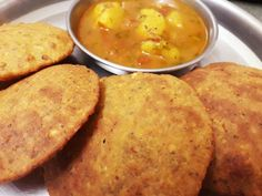Rajasthani Korma Ki Puri Recipe by Shivani Singh Maharashtrian Recipes, Gujarati Recipes, Puri Recipes, Korma, Cooking Light, Garam Masala, Curries, Great Recipes, Roast