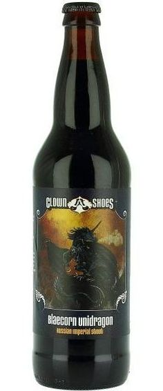 Clown Shoes Blaecorn Unidragon: Imperial Stout Beer from USA - http://www.beerz.co.nz/beers-in-new-zealand/clown-shoes-blaecorn-unidragon-imperial-stout-beer-from-usa/ #beer #nzbeer #beernz #NewZealand