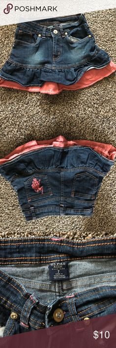 Polo Assn. Denim skirt -7 Gently used - still in great condition U.S. Polo Assn. Bottoms Skirts