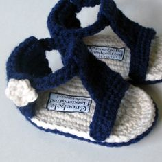 Baby Gladiator Sandal Crochet Pattern DIY pink brown bootie shoe tutorial tut do it yourself how to beginner intermediate advanced pdf file. $6.50, via Etsy.