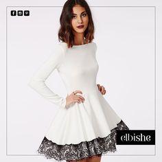 Bembeyaz #elbise içerisinde güzelliğinize güzellik katın.