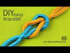 ▶ Infinity Square Knot Easy Yin Yang Bracelet Tutorial ∞ - YouTube