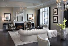 【マントルピース】□暖炉□輸入住宅□モールディング Classic Living Room, Living Room Modern, Home And Living, Living Spaces, Living Rooms, Cozy Fireplace, Living Room With Fireplace, Fireplace Design, Fireplace Ideas