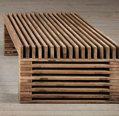 RESTORATION HARDWARE 51 Coffee Table Reclaimed Wood Timber Slat