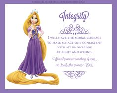 Young Women's Values with Disney Princesses: Integrity