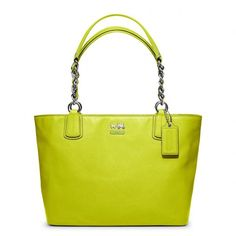 Coach Madison Leather Tote ($298) ❤ liked on Polyvore