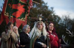 Glastonbury Dragons' Samhain Wild Hunt festival – in pictures Samhain Halloween, Halloween Village, Pagan Calendar, Glastonbury Tor, Celtic Festival, Wild Hunt, Important Dates, Coven, Wicca
