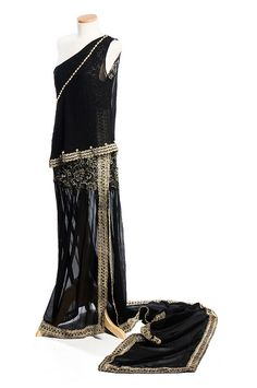 Evening dress, 1920s by Charleston Museum, via Flickr