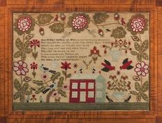 Words and Blooms: Finally, stitching a sampler!