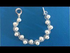 Manualidades: PULSERA con perlas fácil/Bisutería DIY ♥ Sor Amparo Arredondo R. - YouTube