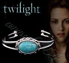 Twilight Bella Swan  natural turquoise bangle bracelet