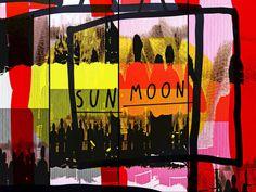 'Unknown people going to the moon and sun' von Gabi Hampe bei artflakes.com als Poster oder Kunstdruck $23.56