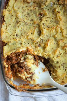 jadłonomia • roślinne przepisy: Wegetariański Shepherd's Pie