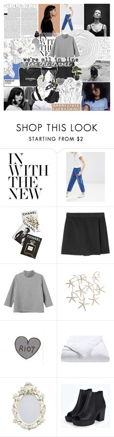 """""""≁ chasing a million"""" by half-dust ❤ liked on Polyvore featuring Freud, Monki, Assouline Publishing, Chanel, Phoenix Down, Boohoo and melsunicorns"""